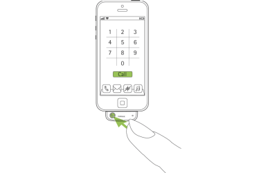EasyCall accepting an incoming call