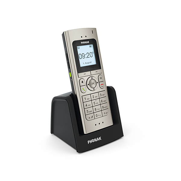 DECT II Phone in Base Perspective