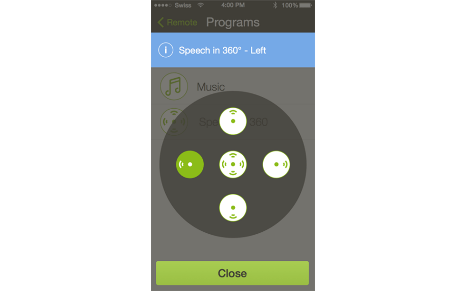Speech in 360° de RemoteControl App