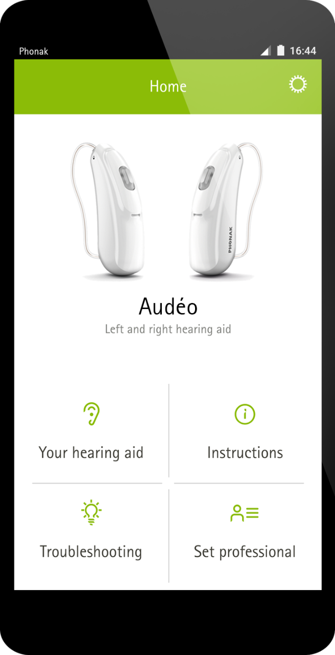 How to connect phonak compilot to hearing aids