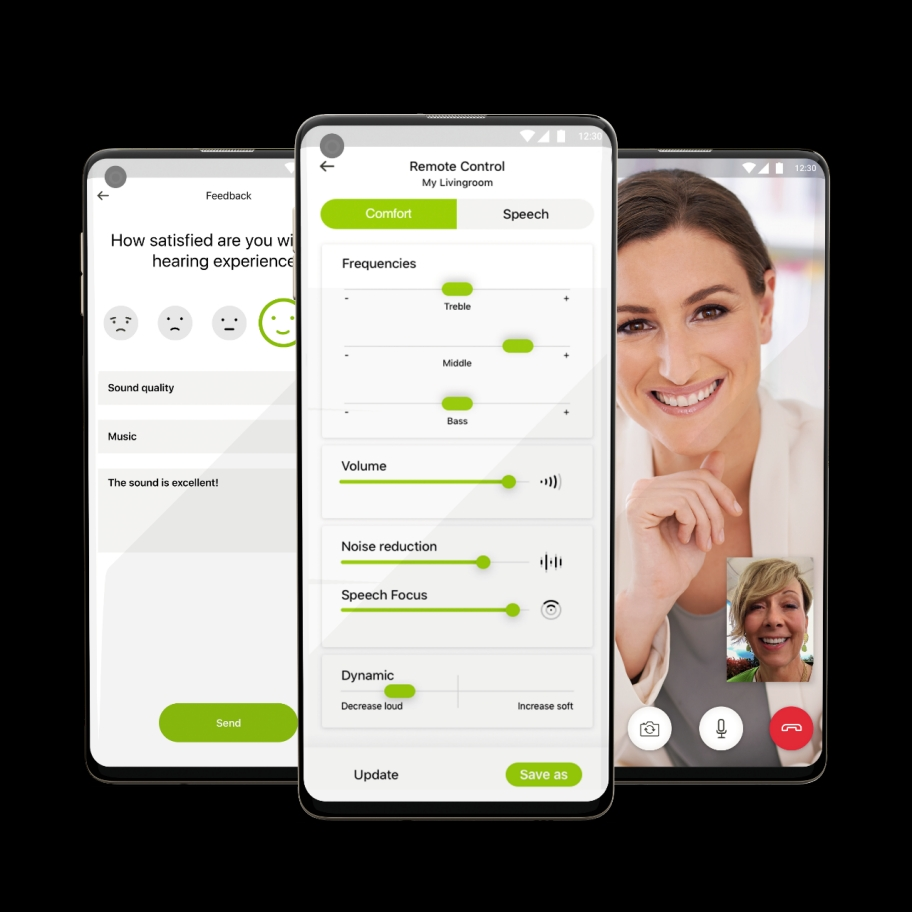 Phonak Paradise hearing aid. Personalized digital solutions