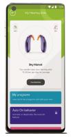 マイフォナック アプリの自分の補聴器機能の図