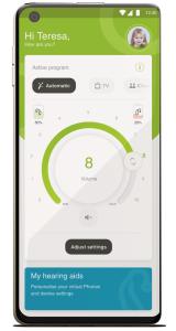 bilde av my phonak app – mine høreapparater-funksjon