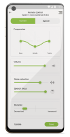 image of myphonak app- remote control function